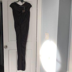 Tadashi Shoji draped evening gown